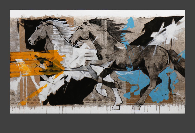 HORSE-162, Acrylic on canvas, Size-60x36