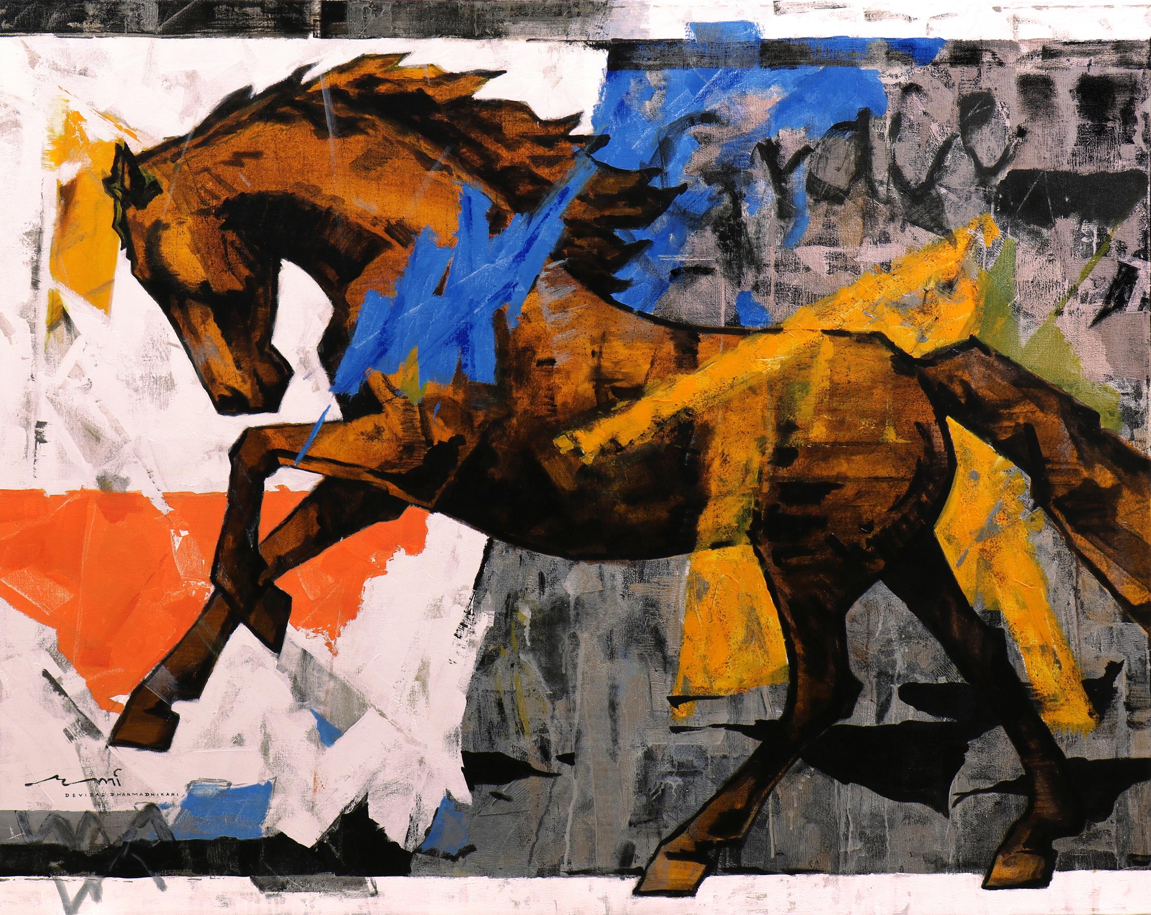 HORSE-177, Acrylic on canvas, Size-60x48