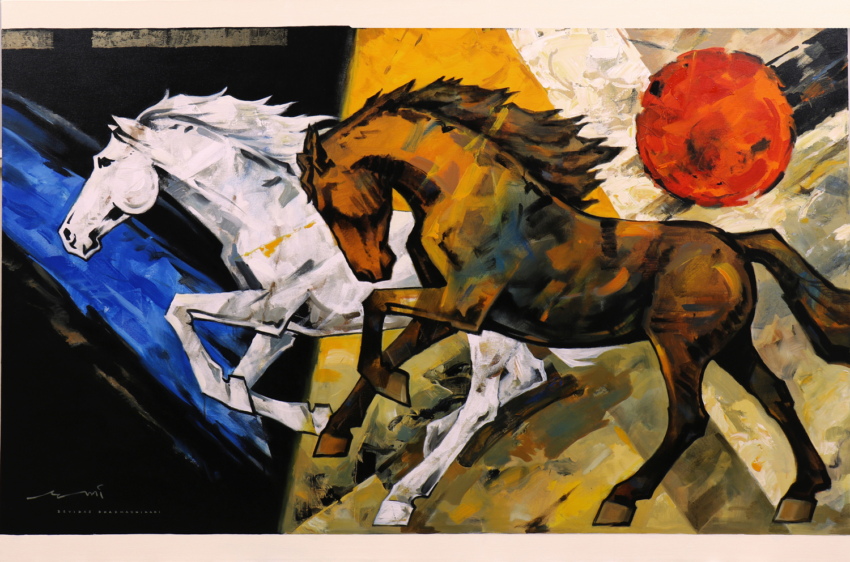 HORSE-182, Acrylic on canvas, Size- 72x48